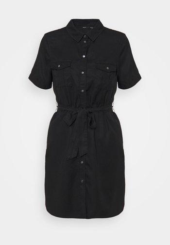 VMSILJA SHORT SHIRT DRESS - Shirt dress - blac