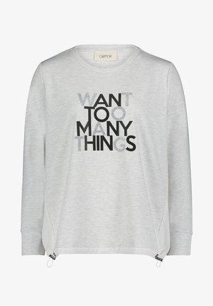 MIT STRUKTUR - Sweatshirt - grau/schwarz