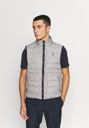 REVRSBLE INSULATED VEST - Waistcoat - light grey heather/bastille blue