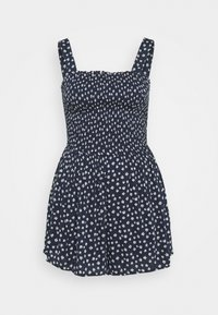 Hollister Co. - SMOCKED BODICE ROMPER - Jumpsuit - navy - 0