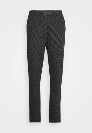 MINI CHECK TROUSER - Spodnie materiałowe - black