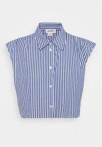 Monki - Button-down blouse - blue - 4