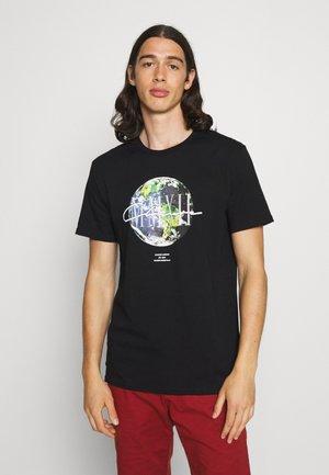 EARTH TEE - Print T-shirt - black