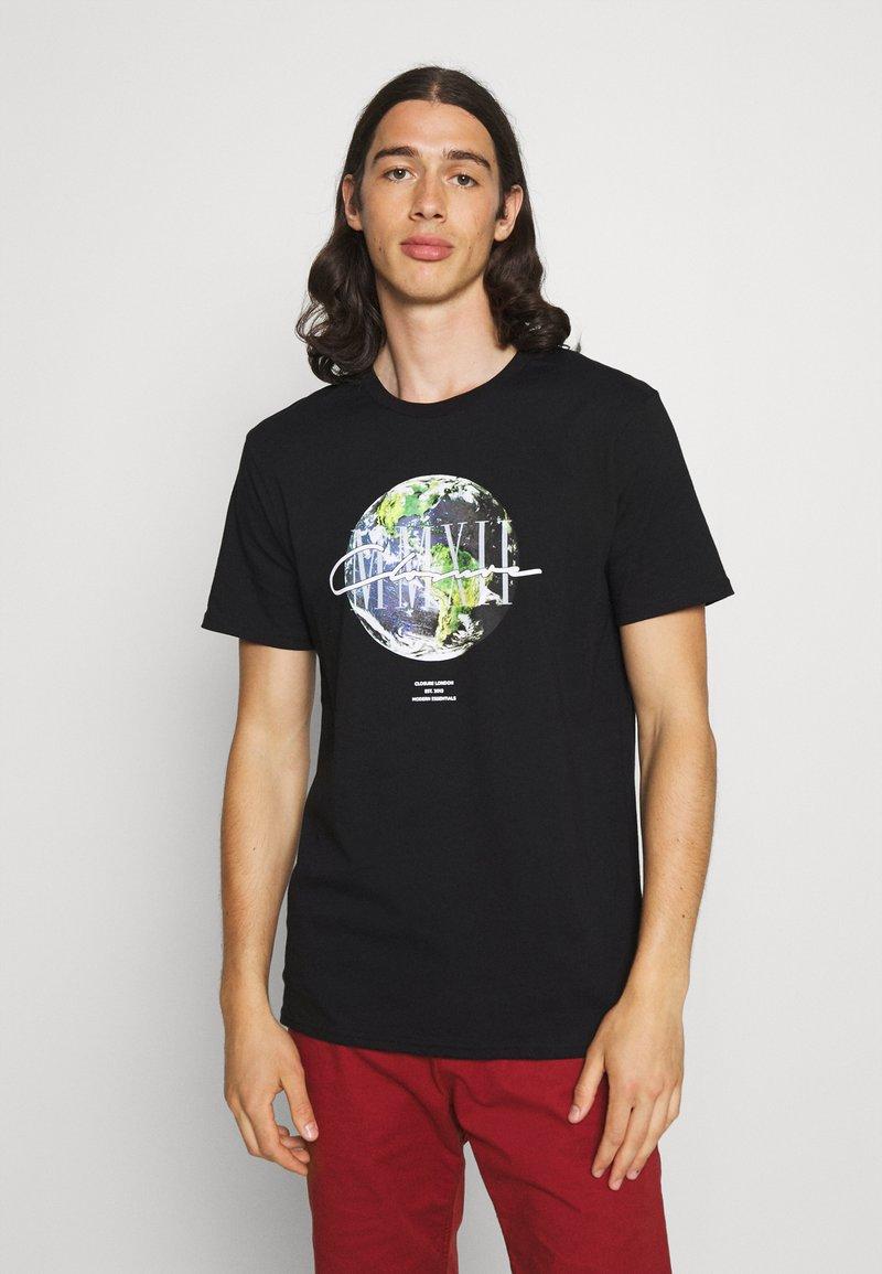CLOSURE London - EARTH TEE - T-shirt imprimé - black