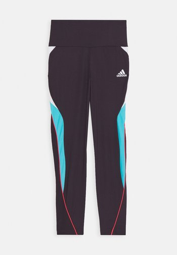 G A.R. BOLD T - Legginsy - noble prism pink/bright cyan/signal pink