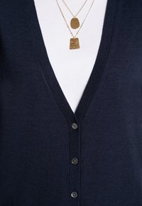 Banana Republic - CARDIGAN WITH COLLEGIATE STRIPES - Cardigan - navy - 5
