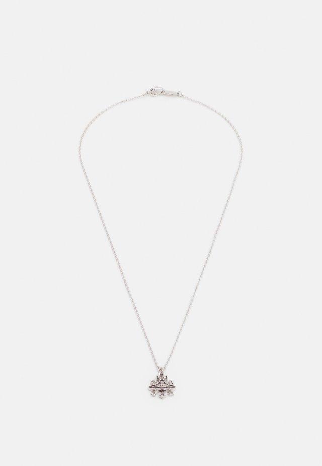 DALILA RELIEF PENDANT - Necklace - silver-coloured
