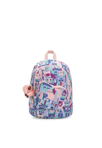 HEART BACKPACK - School bag - robot camo pink