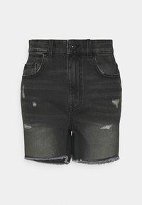 ONLY - ONLBAY DESTROY - Denim shorts - black denim - 5