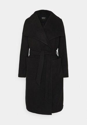 ONLNEWPHOEBE DRAPY COAT - Klasický kabát - black