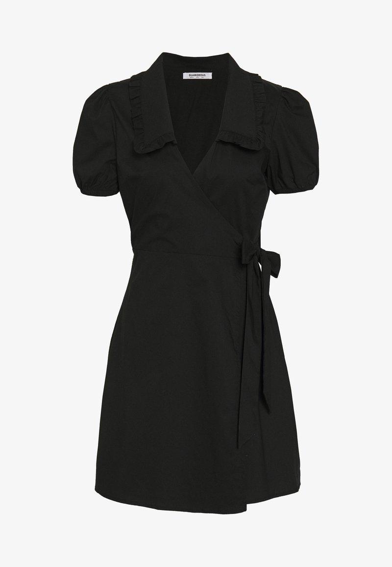 Glamorous - DRESS WITH RUFFLE COLLAR - Denní šaty - black