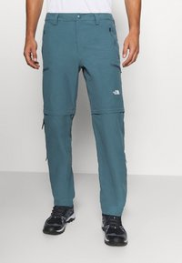 The North Face - EXPLORATION CONVERTIBLE PANT - Outdoor trousers - mallard blue - 0