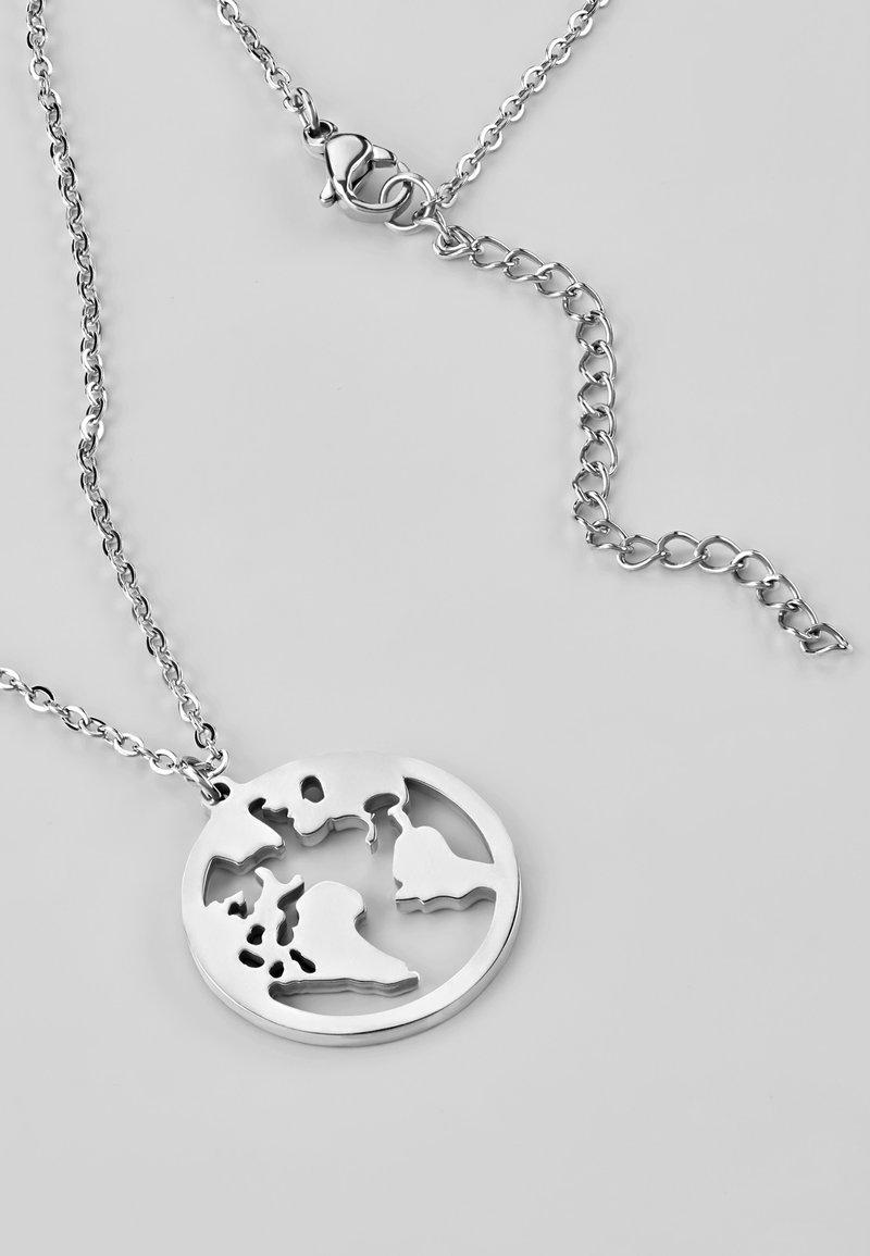 Heideman - WELTKUGEL GLOBUS - Necklace - silver-coloured