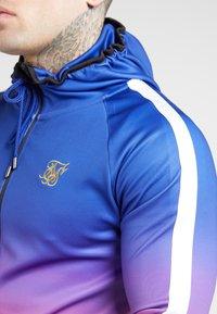 SIKSILK - Zip-up hoodie - blue neon fade - 4
