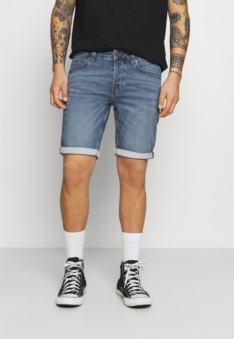 Only & Sons - ONSPLY LIFE - Denim shorts - blue denim
