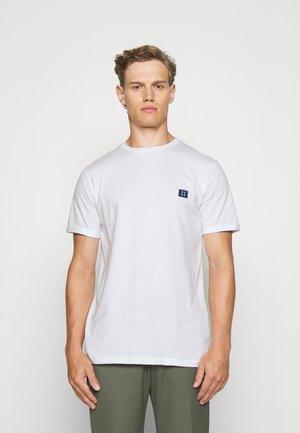 ZALANDO X LES DEUX PIECE - Basic T-shirt - white/navy sky blue