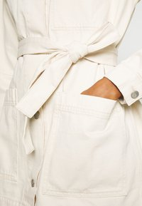 Weekday - CLAY WORKER JACKET - Short coat - light beige - 4