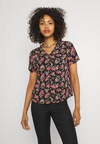 Vila - VICARE - Button-down blouse - black - 0