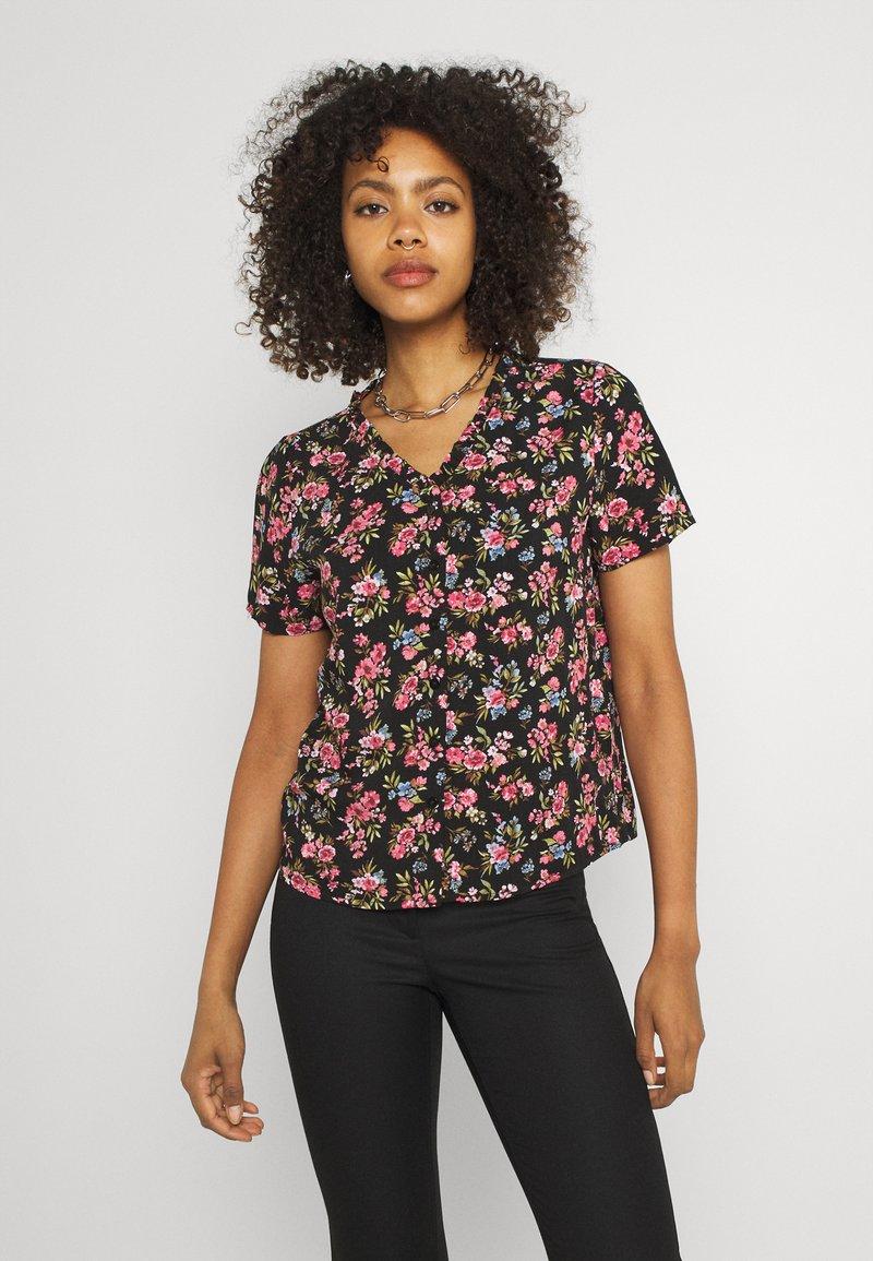 Vila - VICARE - Button-down blouse - black