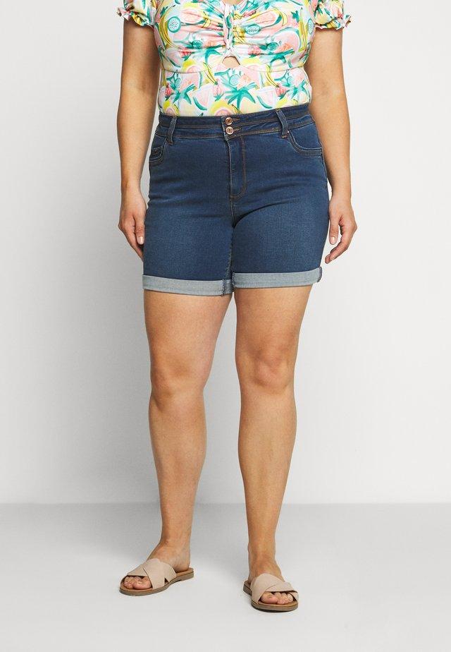 SHAPE AND SCULPT - Shorts vaqueros - mid blue