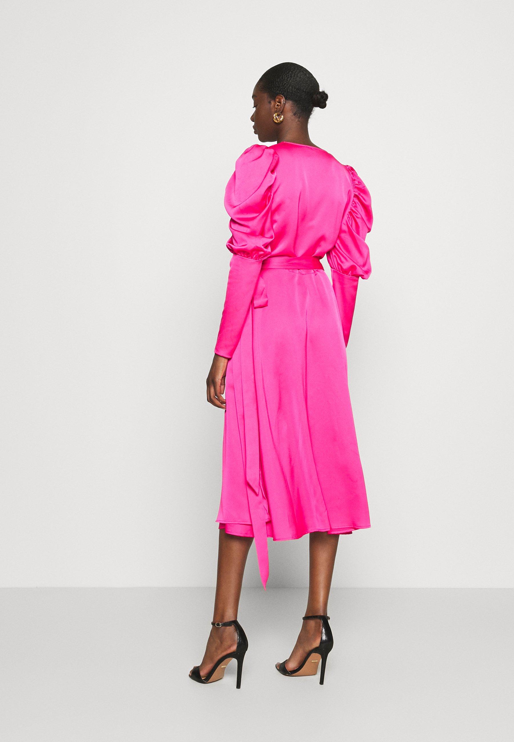 Cras ALMACRAS WRAP DRESS Freizeitkleid shocking pink/pink