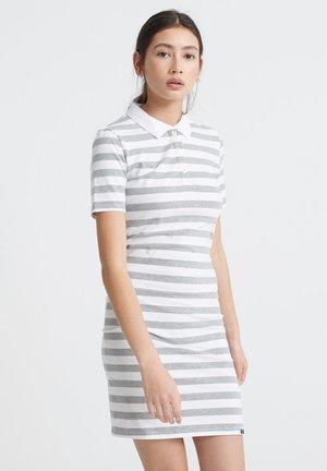 TILLY BODYCON RUGBY - Shift dress - grey stripe