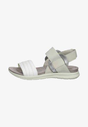 Platform sandals - weiss grau