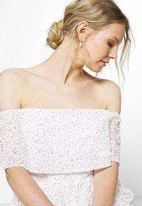 Maya Deluxe - SCATTERED SEQUIN BARDOT MAXI DRESS - Společenské šaty - white - 5