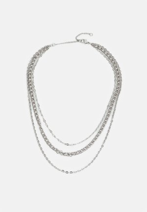 MIX CHAIN SHORT - Necklace - silver-coloured