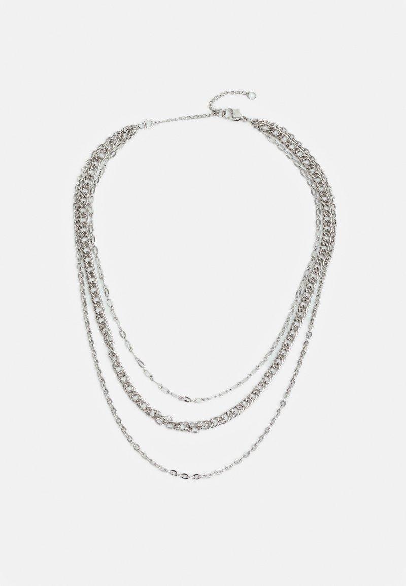 Topshop - MIX CHAIN SHORT - Náhrdelník - silver-coloured