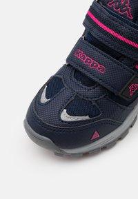 Kappa - HOVET TEX UNISEX - Hiking shoes - navy/pink - 5