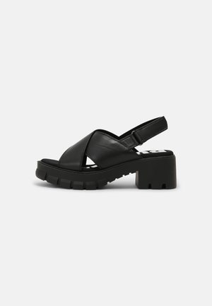VEGAN REIKA - Korkeakorkoiset sandaalit - black