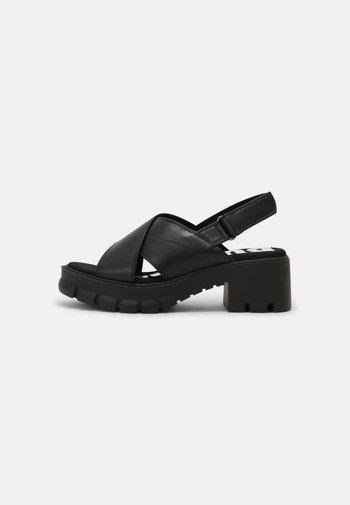 VEGAN REIKA - Platform sandals - black
