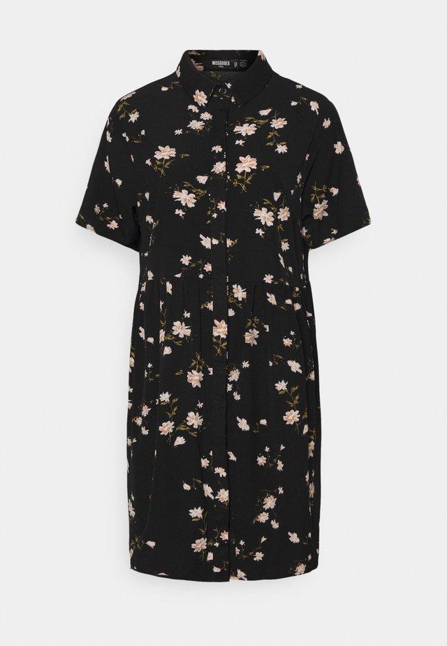 SMOCK DRESS POLKA - Denní šaty - black
