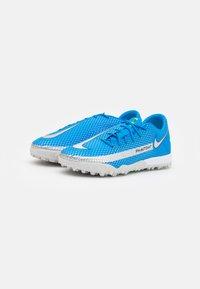 Nike Performance - PHANTOM GT ACADEMY TF - Astro turf trainers - photo blue/metallic silver/rage green - 1
