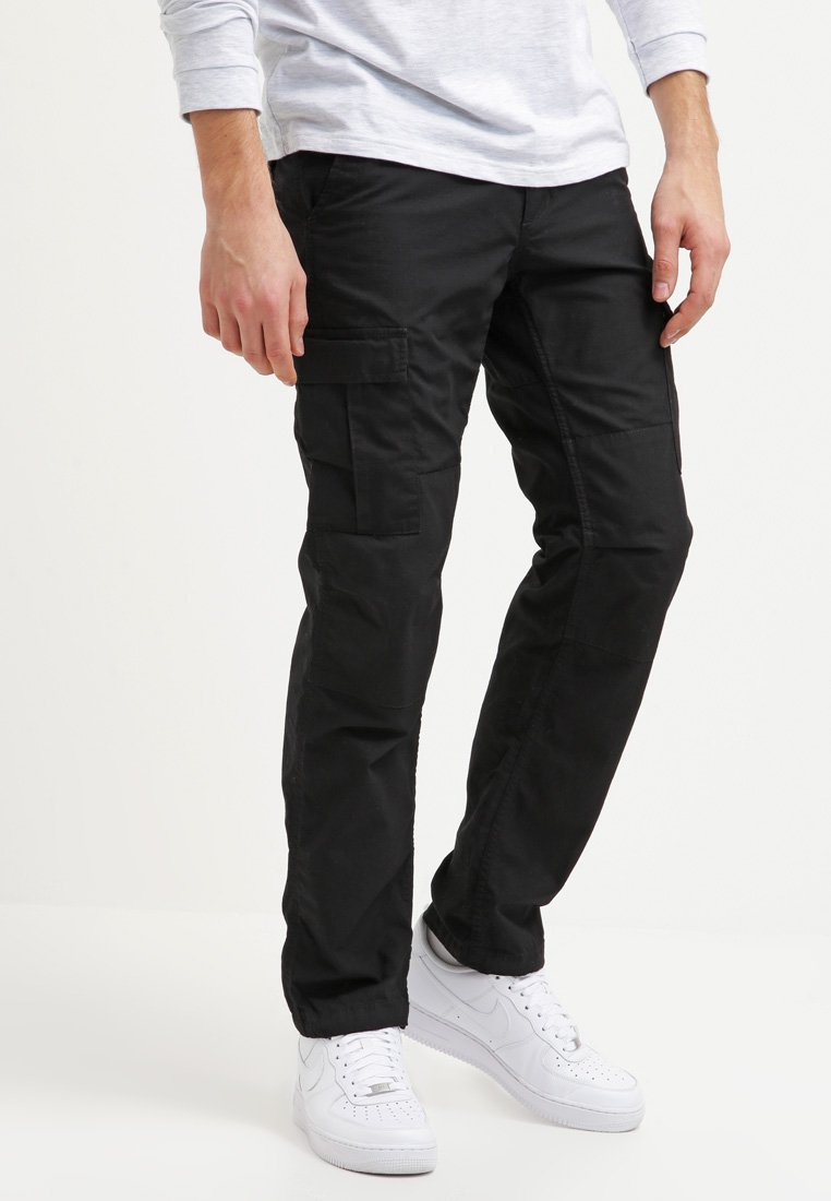 Carhartt WIP - AVIATION PANT COLUMBIA - Cargo trousers - black rinsed