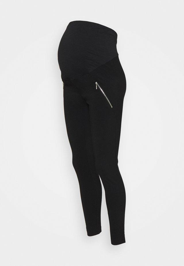 MATERNITY SKINNY BENG TROUSER - Pantalon classique - black