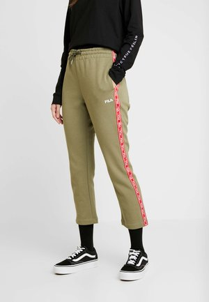 URVI PANTS - Tracksuit bottoms - deep lichen green