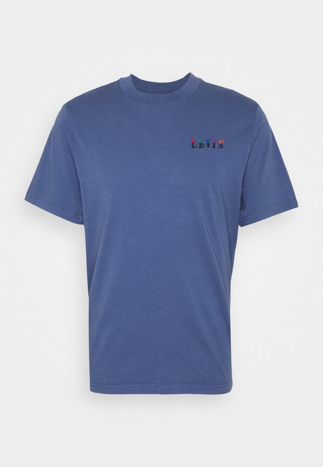 GRAPHIC MOCKNECK TEE UNISEX - T-shirts med print - blue indigo