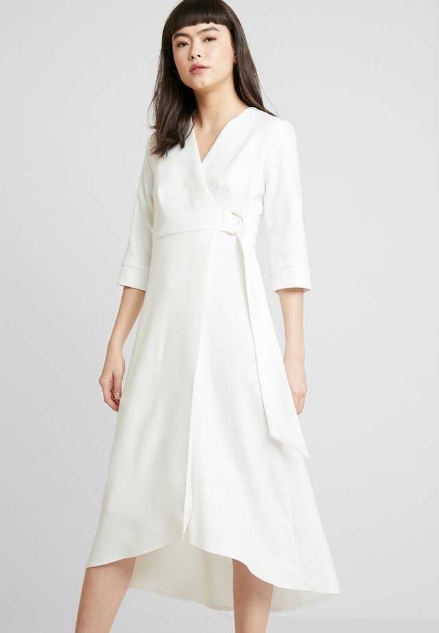 CLOSET WRAP A-LINE DRESS - Day dress - white