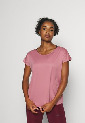 DRY ELASTIKA - Sports shirt - desert berry/dark beetroot/white