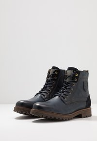 Pantofola d'Oro - PONZANO UOMO HIGH - Lace-up ankle boots - dress blues - 2
