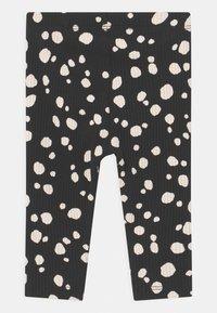 Lindex - BASIC DOTS UNISEX - Leggings - Trousers - off black - 1