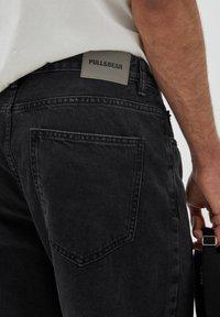 PULL&BEAR - BERMUDA - Denim shorts - mottled black - 4