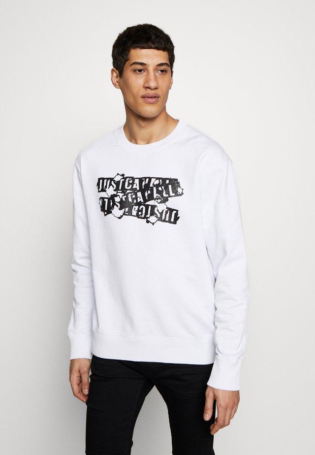 BURN LOGO - Sweatshirt - white