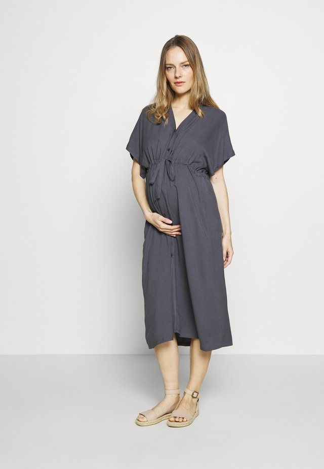 DRESS NOSTALGIA - Shirt dress - dusty blue