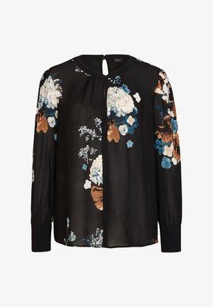 Blouse - black flowers print