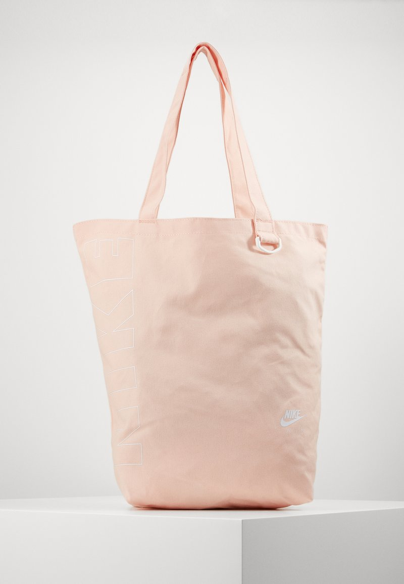 Nike Sportswear - HERITAGE UNISEX - Tote bag - washed coral/washed coral/white