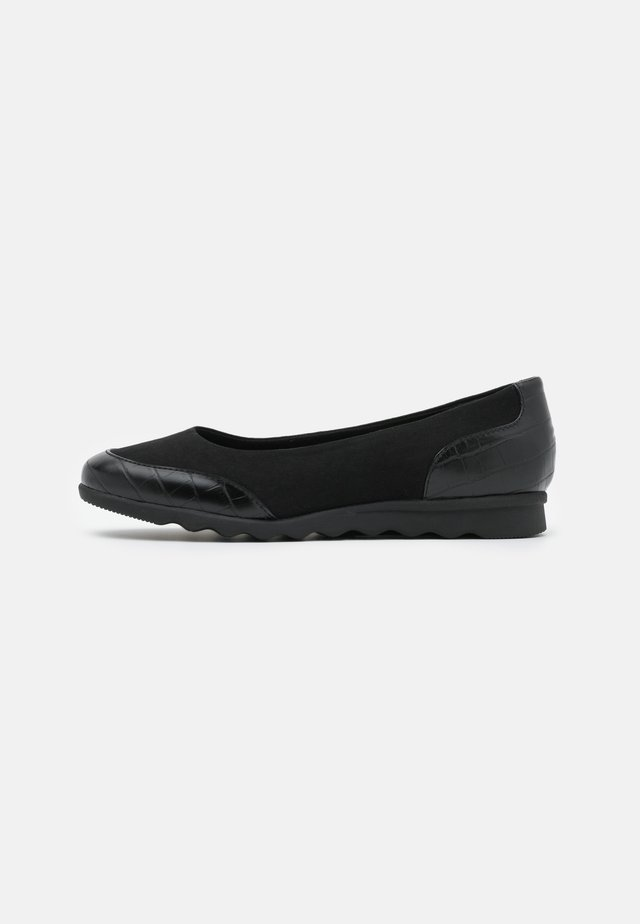 WIDE FIT COMFORT FLAT SHOE - Ballerina's - black