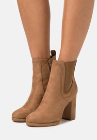 Anna Field - High heeled ankle boots - camel - 0